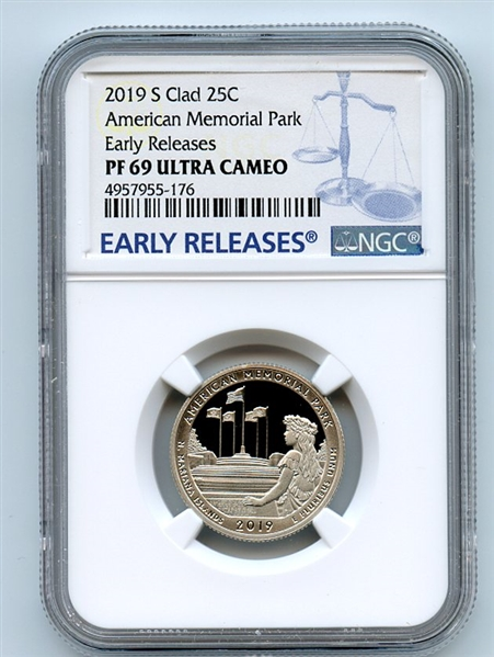 2019 S 25C Clad Frank Church River Quarter NGC PF69UCAM Early Releases