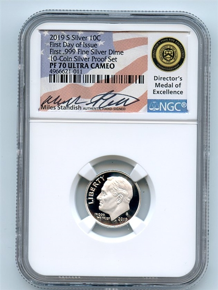 2019 S Proof 10C Silver Dime coin NGC PF69 ULTRA CAMEO Roosevelt First Releases