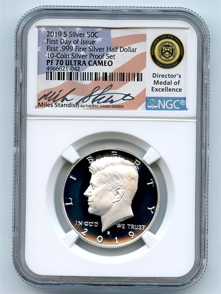 2019 S John F Kennedy Half Dollar NGC PF70 First Day of Issue First .999 Silver
